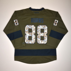 San Jose Sharks 2000 NHL Camo Hockey Shirt #88 Burns S