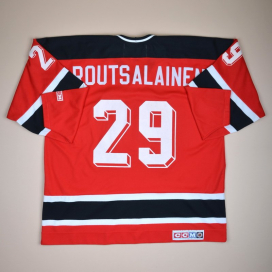 New Jersey Devils 2000 NHL Hockey Shirt #29 Routsalainen (Excellent) XXL