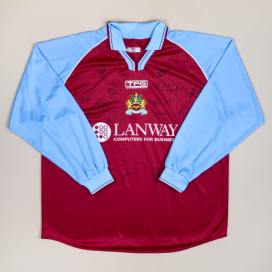 Burnley 2002 - 2003 'Signed' Home Shirt (Very good) XL
