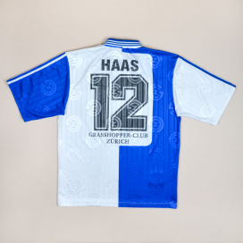 Grasshoppers 1997 - 1998 'Signed' Home Shirt #12 Haas M