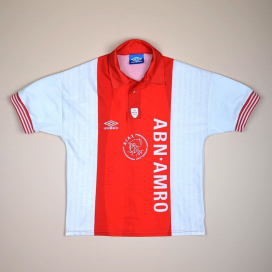 Ajax 1995 - 1996 Special Edition 'De Meer' Home Shirt (Excellent) Y (XS)