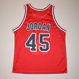 Chicago Bulls NBA Basketball Shirt #45  Jordan (Very good) L