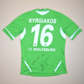 Wolfsburg 2011 - 2012 Match Issue Signed Home Shirt #16 Kygriakos (Excellent) L