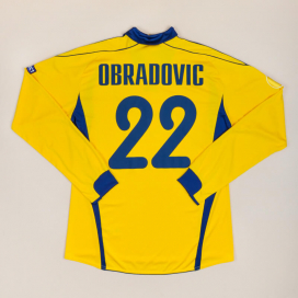 Metalist Kharkiv 2010 - 2011 Match Issue Europa League Home Shirt #22 Obradovic (Excellent) L