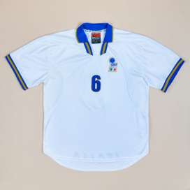 Italy 1996 - 1997 Match Issue Away Shirt #6 (Excellent) XXL