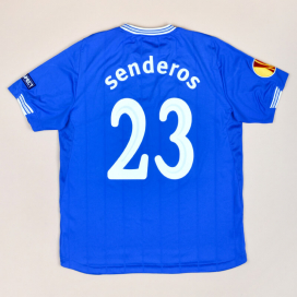 Everton 2009 - 2010 Match Issue SIgned Europa League Home Shirt #23 Senderos (Excellent) L