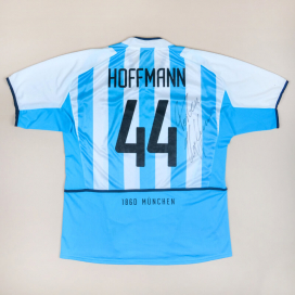 1860 Munich 2002 - 2004 'Signed' Home Shirt #44 Hoffmann (Very good) XL