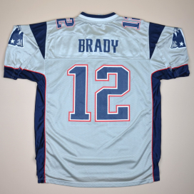 New England Patriots 2000 NFL American Football Shirt #12 Brady (Excellent) L