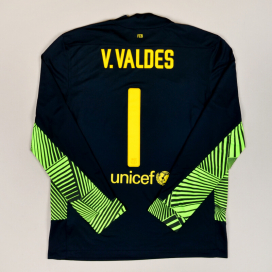 Barcelona 2011 - 2012 Goalkeeper Shirt #1 Valdes (Very good) L