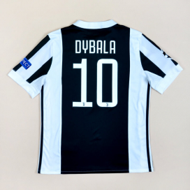 Juventus 2018 - 2019 Champions League Home Shirt #10 Dybala (Excellent) YL