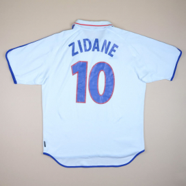 France 2000 - 2002 Away Shirt #10 Zidane (Excellent) L