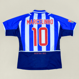 Hertha Berlin 2002 - 2003 Home Shirt #10 Marcelinho (Very good) XL