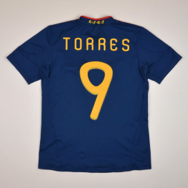 Spain 2010 - 2011 Away Shirt #9 Torres (Very good) YL