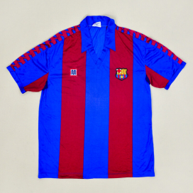 Barcelona 1984 - 1989 Match Issue Reserve Home Shirt #20 (Very good) L