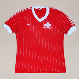 Switzerland  1980 - 1982 Match Issue Home Shirt #16 (Very good) L