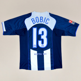 Hertha Berlin 2004 - 2005 Home Shirt #13 Bobic (Very good) L