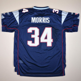 New England Patriots 2000 NFL American Football Shirt #34 Morris (Excellent) XL