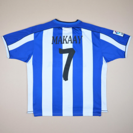 Deportivo 2002 - 2003 Home Shirt #9 Makaay (Good) XL