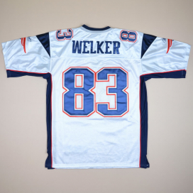 New England Patriots 2000 NFL Super Bowl American Football Shirt #83 Welker (Excellent) XL