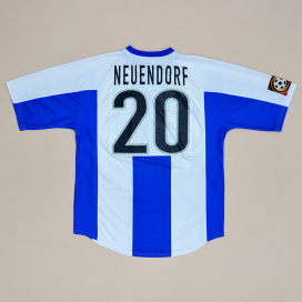 Hertha Berlin 1999 - 2000 Match Issue Home Shirt #20 Neuendorf (Not bad) L