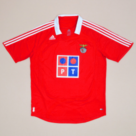 Benfica 2007 - 2008 Home Shirt (Very good) XL