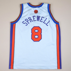 New York Knicks 2000 NBA Basketball Shirt #8 Sprewell (Very good) L