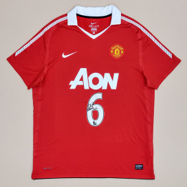 Manchester United 2010 - 2011 'Signed by Wes Brown' Home Shirt #6 (Very good) XL