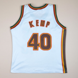 Seattle Supersonics 2000 NBA Basketball Shirt #40 Kemp (Not bad) M