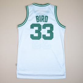 Boston Celtics 2000 NBA Hardwood Classics Basketball Shirt #33 Bird (Excellent) M