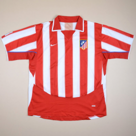 Atletico Madrid 2003 - 2004 Home Shirt (Very good) XL