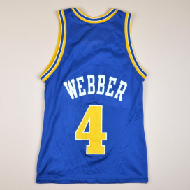Golden State Warriors 2000 NBA Basketball Shirt #4 Webber (Very good) S