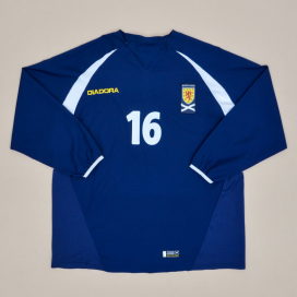 Scotland 2003 - 2005 Home Shirt #16 (Very good) L