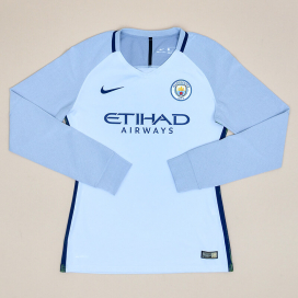 Manchester City 2017 - 2018 Player Issue Goalkeeper Shirt (Excellent) S