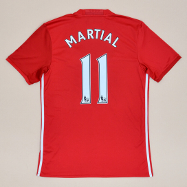 Manchester United 2016 - 2017 Home Shirt #11 Martial (Very good) M