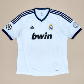 Real Madrid 2012 - 2013 Champions League Home Shirt (Very good) XL