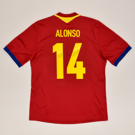 Spain 2012 - 2013 Home Shirt #14 Alonso (Very good) L