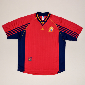 Spain 1998 - 1999 Home Shirt (Excellent) XL