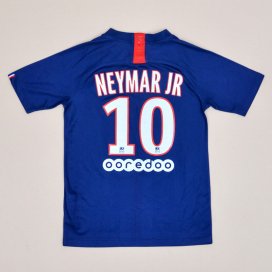 Paris Saint-Germain 2019 - 2020 Home Shirt #10 Neymar JR (Good) YM
