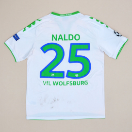 Wolfsburg 2015 - 2016 Match Worn Unwashed Away Shirt #25 Naldo (Good) L