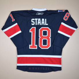 New York Rangers 2000 NHL Hockey Shirt #18 Staal (Excellent) XXXL