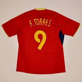 Spain 2009 Confederations Cup Home Shirt #9 Torres (Very good) XL