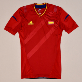 Spain 2012 Olympics Player Issue TechFit Home Shirt (Excellent) M