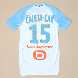 Olympique Marseille 2018 - 2019 Match Issue Home Shirt #15 Caleta-Car (Excellent) M