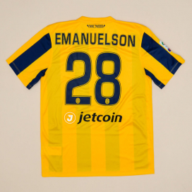 Hellas Verona 2015 - 2016 Match Issue Home Shirt #28 Emanuels (Excellent) M