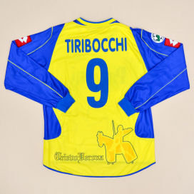 Chievo Verona 2004 - 2005 Match Issue Home Shirt #9 Tiribocchi (Excellent) XL