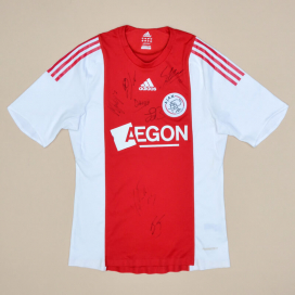 Ajax 2008 - 2009 Player Issue Signed Home Shirt (Very good) M