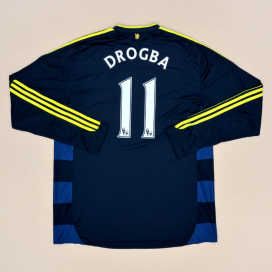 Chelsea 2009 - 2010 Away Shirt #11 Drogba (Excellent) XL