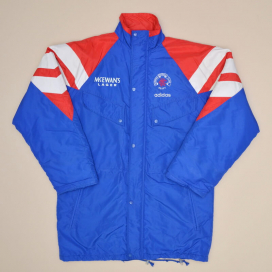Rangers 1992 - 1994 Training Bench Jacket (Very good) M