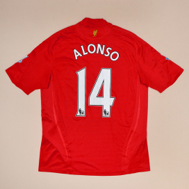 Liverpool 2008 - 2010 Home Shirt #14 Alonso (Very good) L