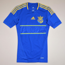 Ukraine 2011 - 2013 Player Issue TechFit Away Shirt (Excellent) M